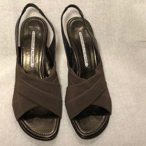 Donald J Pliner Brown Heels